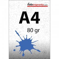 Impr. láser color A4 80 gr