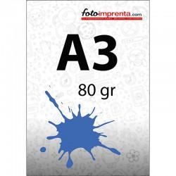 Impr. láser color A3 80 gr