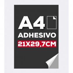 Cartel adhesivo A4